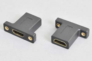 パネルマウント中継アダプタ 両側HDMI-Aメス HDMI2.0対応 【HDMI2.0対応】 (PADP-HFHFの後継品)