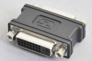 DVI中継アダプタ 両側DVI-I(24+5)のメス