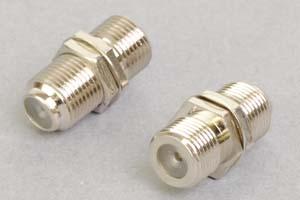 同軸コネクタ用中継アダプタ  両側F型メス(パネル取付型、インピーダンス75Ω)