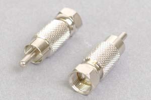 同軸コネクタ用変換アダプタ  F型オス-RCAオス(インピーダンス75Ω)