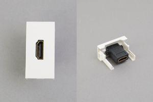 45ハーフモジュール(HDMIメス-HDMIメス中継端子、ストレート型)