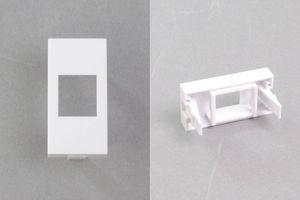 45ハーフモジュール(スナップイン中継コネクタ用 変換アダプタ、1個口タイプ)