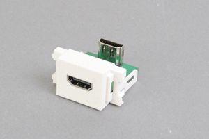 コンセントチップ(90°アングル方向コネクタ) コンセント側:HDMIメス/壁内側:HDMIメス
