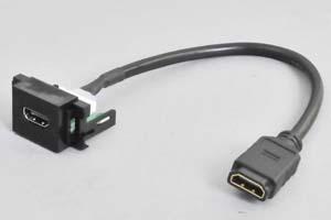 コンセントチップ  コンセント側:HDMIメス<黒色>/ケーブル側:HDMIメス  【短距離接続用】