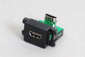 コンセントチップ(90°アングル方向コネクタ) コンセント側:HDMIメス<黒色>/壁内側:HDMIメス