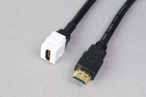 スナップイン中継ケーブル、HDMIメス-HDMIオス:ストレート方向ケーブル引き出しタイプ