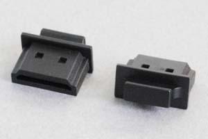 防塵キャップ HDMIメス端子用 ツマミ付き 黒