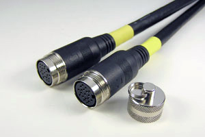ケーブル付きAVコンセント専用中継ケーブル DVI-D/HDMI長尺用+両側DIN19pinメス(HDMI Ver 1.3、High Speed HDMI Cable)【在庫限り販売中止】