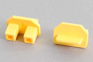 保護キャップ 3Pインレット電源ソケット用キャップ 黄色