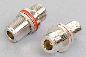 同軸コネクタ用中継アダプタ  N型メス-N型メス(パネル取付型、インピーダンス50Ω)