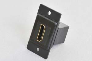 パネルマウントベゼルセット HDMI中継コネクタ 黒色