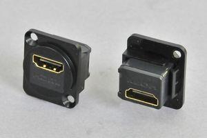 パネルマウント HDMI中継メス-メス 黒 【HDMI2.0対応】  【ノイトリック型ベゼルセット品】