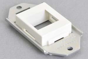 パネルマウント取付枠セット 白色タテ型ガイドチップ