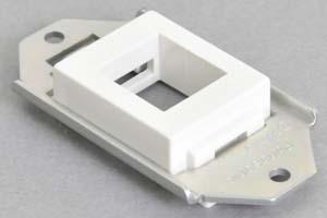 パネルマウント取付枠セット 白色ヨコ型ガイドチップ