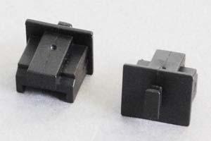 防塵キャップ RJ45ソケット端子用 ツマミ付き 黒
