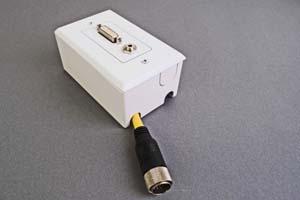 映像・音声用 露出配線ボックス(DVI-D(シングルリンク)+音声用、接続ケーブル付き) 【在庫限り販売中止】