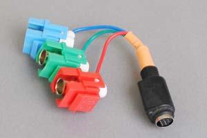 スナップイン中継ケーブル、BNCメス×3(赤青緑)-ミニDIN8+1pinメス 【在庫限り販売中止】