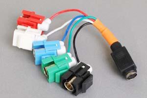 スナップイン中継ケーブル、BNCメス×5(赤青緑黒白)-ミニDIN8+1pinメス 【在庫限り販売中止】