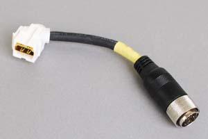 スナップイン中継ケーブル、HDMIメス-丸型DIN19pinオス:アングル方向ケーブル引き出しタイプ 【在庫限り販売中止】