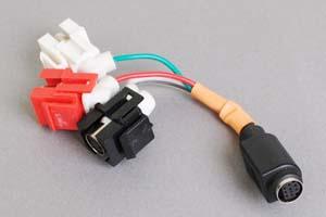スナップイン中継ケーブル、S端子+RCAメス赤白(音声用)-ミニDIN8+1pinメス 【在庫限り販売中止】