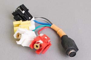 スナップイン中継ケーブル、S端子+RCAメス黄赤白(コンポジット映像、音声用)-ミニDIN8+1pinメス 【在庫限り販売中止】