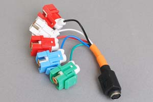 スナップイン中継ケーブル、RCAメス赤青緑赤白(コンポーネント映像+音声用)-ミニDIN8+1pinメス 【在庫限り販売中止】