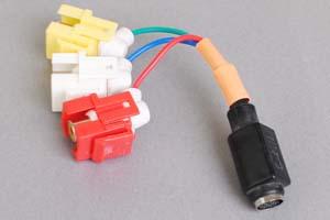 スナップイン中継ケーブル、RCAメス黄赤白(コンポジット映像+音声用)-ミニDIN8+1pinメス 【在庫限り販売中止】