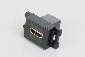 コンセントチップ(スナップインセット品) コンセント側:HDMIメス/壁内側:HDMIメス 横型 黒
