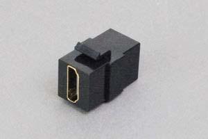 スナップイン中継コネクタ HDMI-Aコネクタ メス 黒色 【在庫限り販売中止】