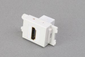 コンセントチップ(スナップインセット品) コンセント側:HDMIメス/壁内側:HDMIメス 縦型 白