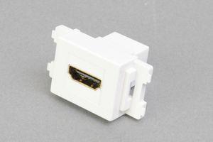 コンセントチップ(スナップインセット品) コンセント側:HDMIメス/壁内側:HDMIメス 横型 白