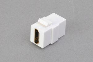 スナップイン中継コネクタ HDMI-Aコネクタ メス 白色 【在庫限り販売中止】