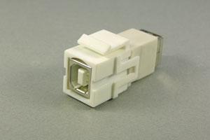 スナップイン中継コネクタ USBコネクタ(Bコネクタ メス 白) 【在庫限り販売中止】