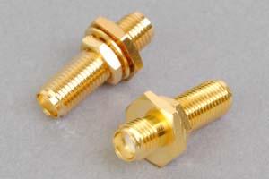 同軸コネクタ用中継アダプタ  SMAメス-SMAメス(パネル取付型、インピーダンス50Ω)