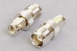 同軸コネクタ用変換アダプタ  SMAオス-TNCメス(インピーダンス50Ω)
