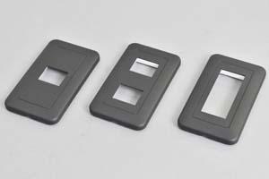 取付枠内蔵型フェースプレート(角丸型、黒)