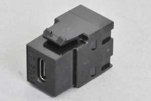 スナップイン中継コネクタ USBコネクタ(Type-Cコネクタ メス 黒) 【USB3.1対応】