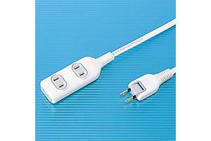 【サンワサプライ】 電源タップ(簡易パッケージタイプ、2P・3個口、15A・125V(合計1500Wまで)、2Pスイングプラグコード5m付き)