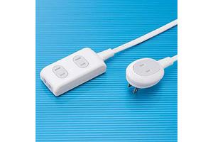 【サンワサプライ】 電源タップ(プラス1個口便利タップ、2P・3個口、15A・125V(合計1500Wまで)、コード長5m)