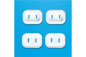 【サンワサプライ】 電源コンセント用トラッキング予防キャップ、2Pプラグ用、4個入り