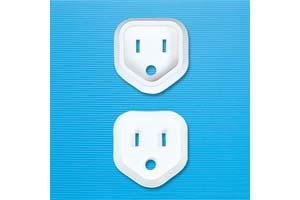 【サンワサプライ】 電源コンセント用トラッキング予防キャップ、3Pプラグ用、2個入り