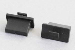 防塵キャップ USB Type-Aのメス端子用 ツマミ付き 黒