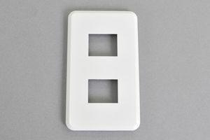 フェースプレート WIDE-iコンセント用 1連 2個用【東芝】