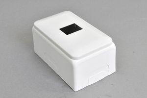 コンセントチップ用 露出配線ボックス (1口用および2口用)